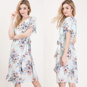 NEW Elizabeth Floral Dress - Mint